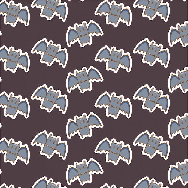 Padrão de morcego bonito em marrom escuro