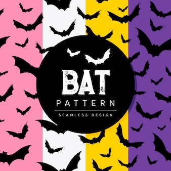 Padrão de morcegos voando assustadores.