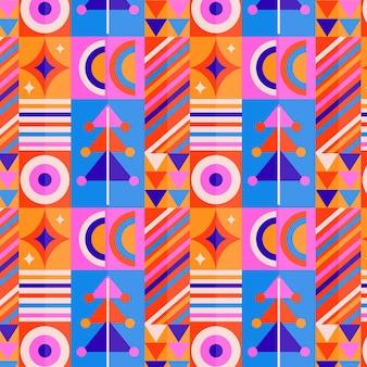 Padrão de mosaico colorido de design plano