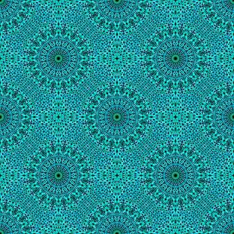 Padrão de mosaico de mandala de cascalho geométrico sem costura