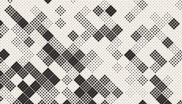 Padrão de mosaico de quadrados caóticos sem emenda