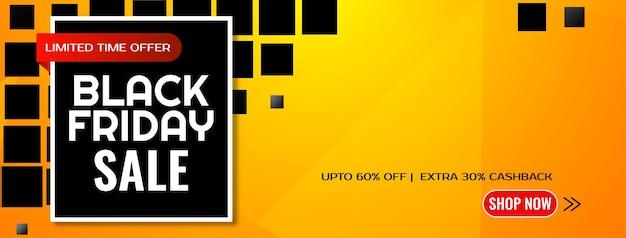 Padrão de mosaico geométrico faixa amarela de venda na sexta feira negra