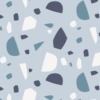 Padrão de mosaico monocromático de design plano