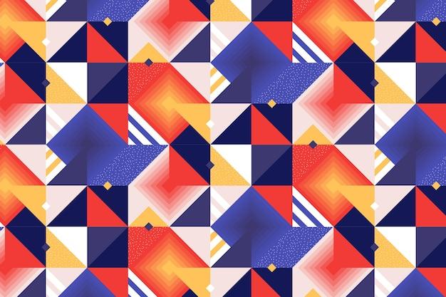 Padrão de mosaico plano criativo