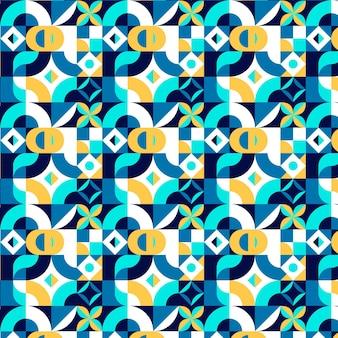 Padrão de mosaico plano sem costura