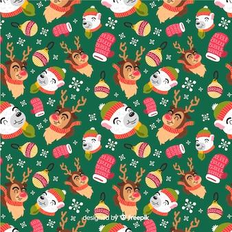 Padrão de natal colorido engraçado