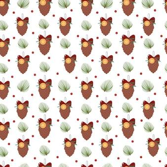 Padrão de natal com cones de natal