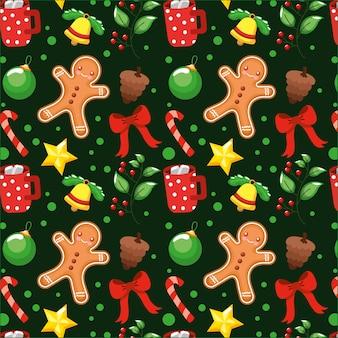 Padrão de natal com elementos de natal