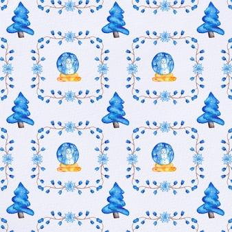 Padrão de natal de aquarela