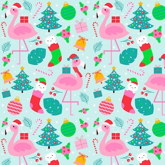 Padrão de natal engraçado colorido