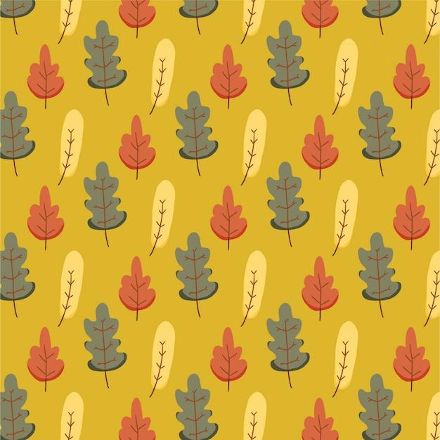 Padrão de natureza com folhas de outono