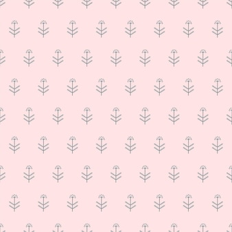 Padrão de natureza perfeita plantas abstratas fundo branco geométrico