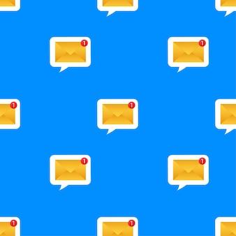 Padrão de notificação por email. novo email. ilustração vetorial.