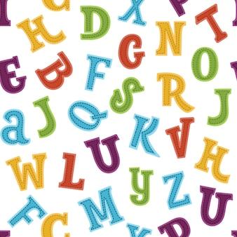 Padrão de números coloridos engraçados sem emenda
