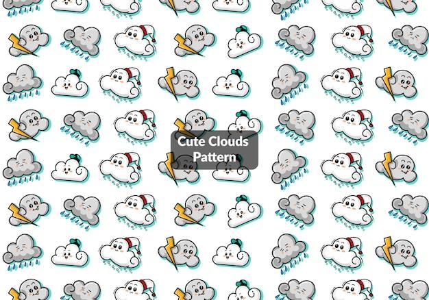 Padrão de nuvens fofo
