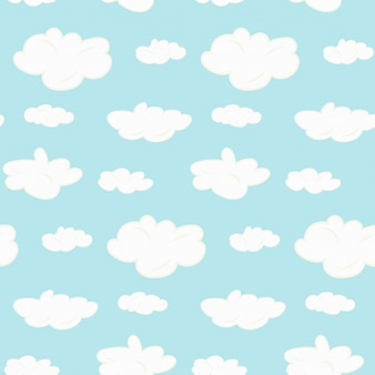Padrão de nuvens sem costura fofo
