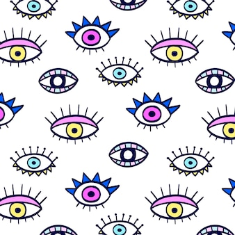 Padrão de olhos coloridos