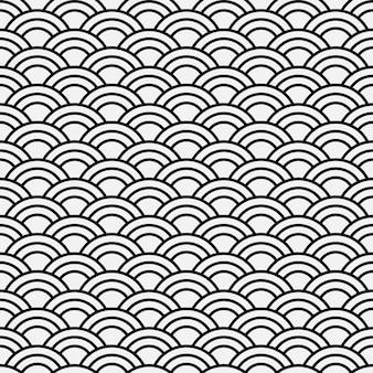 Padrão de onda abstrata sem costura - estilo japonês