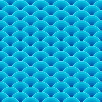 Padrão de ondas do oceano azul sem costura