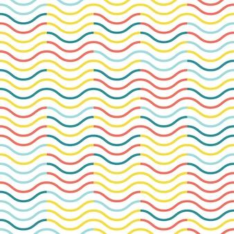 Padrão de ondas. fundo geométrico abstrato. ilustração de estilo elegante e luxuoso