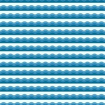 Padrão de ondas. ilustração náutica e verão. fundo geométrico abstrato