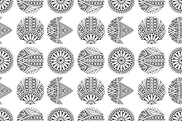 Padrão de ornamento de mandala. fundo de elementos decorativos vintage