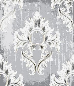 Padrão de ornamento de prata vintage