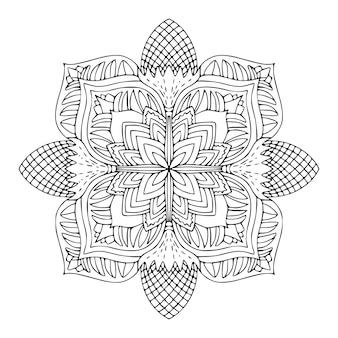 Padrão de ornamento detalhado página do livro para colorir