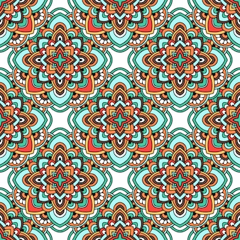 Padrão de ornamento tribal tapete indiano