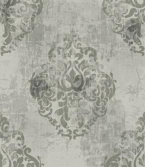 Padrão de ornamento vintage imperial. royal victorian. estilo grunge