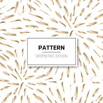 Padrão de ouro e branco padrão abstrato geométrico moderno ilustração vetorial contexto abstrato textura de folha de ouro estilo art déco confetti de pontos de bolinha