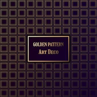 Padrão de ouro em estilo art deco. padrão de gatsby em fundo escuro.