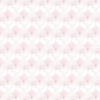 Padrão de ouro rosa em fundo branco