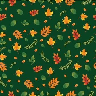 Padrão de outono colorido sem costura