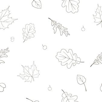 Padrão de outono perfeito para design de impressão
