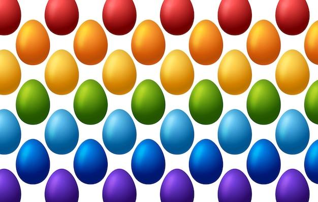Padrão de ovo de arco-íris de páscoa feliz