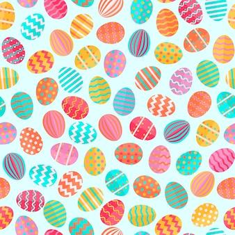 Padrão de ovo de páscoa bonito, ótimo design para todos os fins. decoração festiva. conceito colorido pastel. ilustração vetorial.