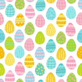 Padrão de ovos de páscoa de primavera.