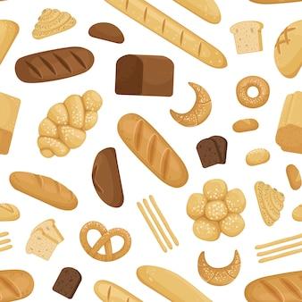 Padrão de padaria dos desenhos animados ou ilustração