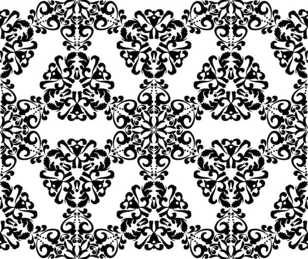 Padrão de padrões de mandala de renda vintage de fundo vector sem costura com enfeites de arabescos