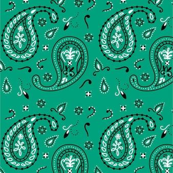 Padrão de paisley desenhado em azul criativo