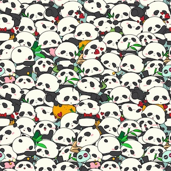 Padrão de panda de bebê fofo.
