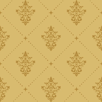 Padrão de papel de parede barroco aristocrático. fundo sem costura retrô vitoriano.