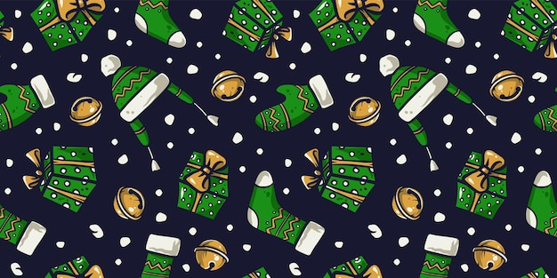 Padrão de papel de parede de ano novo ou roupas de natal