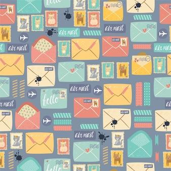 Padrão de papelaria postal