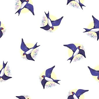 Padrão de pássaro de andorinha