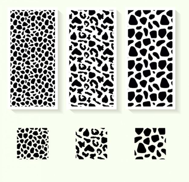 Padrão de pele de animal preto e branco