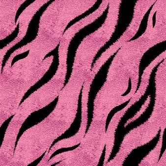 Padrão de pele de tigre rosa sem emenda. impressão de pele de tigre glamourosa