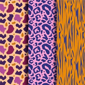 Padrão de pele de vida selvagem moderna em cores vivas