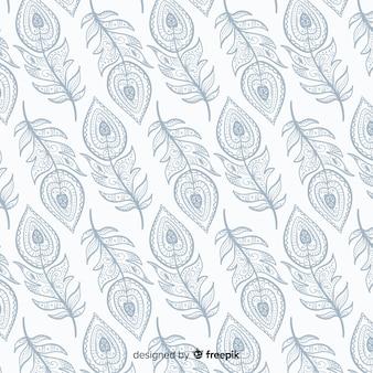 Padrão de penas de pavão decorativo